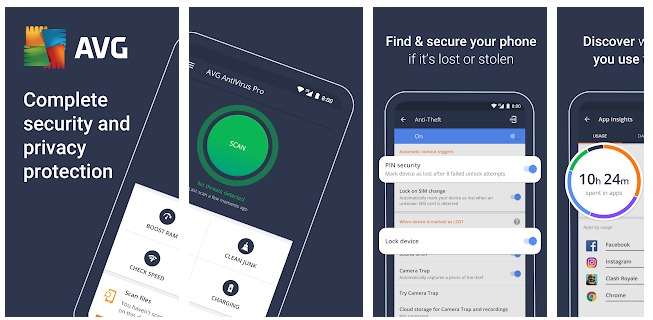 AVG AntiVirus 2020 for Android Security Free - Apps on Google Play - outdroid.com